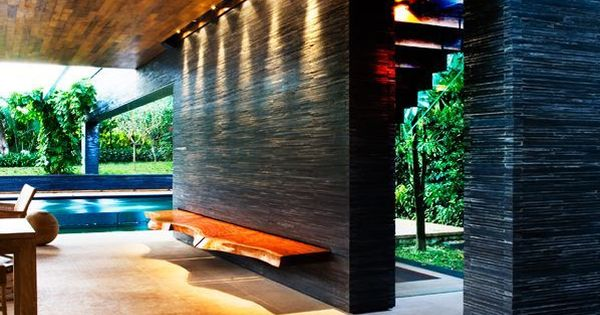 Clunny House, A Sustainable Modern Home Design with Inner Tropical Water Garden