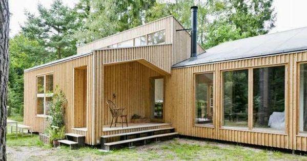 Casa moderna de madera construida con el sistema d process - Casas de madera laminada ...