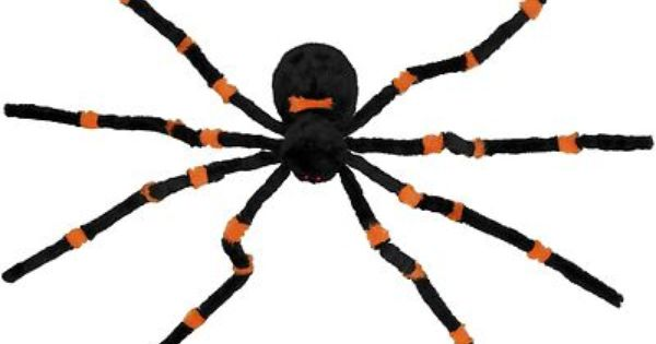 New dropping orange furry animated spider halloween prop for Animated spider halloween decoration