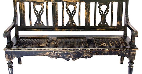 Spanish colonial style bench on cannot for R furniture canoga park