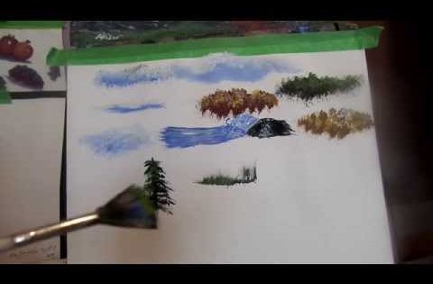 Acrylic painting tips and tricks on using your brushes to for Acrylic brush techniques