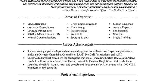 public relations executive resume example executive