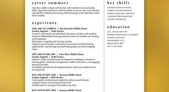 Modern Resume Template Βιογραφικό, Σχέδιο και Μοντέρνο - math teacher resume