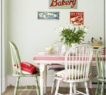 Cocinas de estilo vintage detalles que no pueden faltar for Sillas antiguas tapizadas modernas
