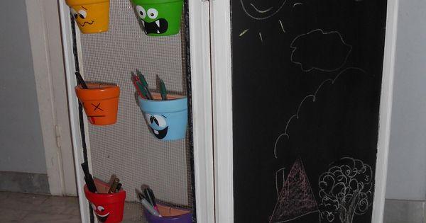 petit paravent pour enfants avec tableau ardoise chambre d 39 enfant de b b par meubles a part. Black Bedroom Furniture Sets. Home Design Ideas