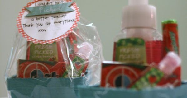 A Little Bit Biased: strawberry theme gift basket - so cute with