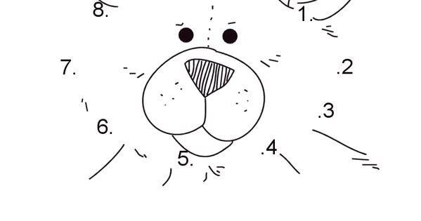 Teddy Bear Dot To Dot Numbers 1-10