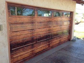 Change The Look Of Your Orange County Home With Garage Door Wraps Garage Door Installation Vinyl Garage Doors Diy Garage Door