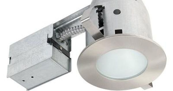 Globe Electric 4 In Brushed Nickel Recessed Shower Lighting Kit 90664 The Home De Recessed Lighting Kits Bathroom Recessed Lighting Recessed Shower Lighting