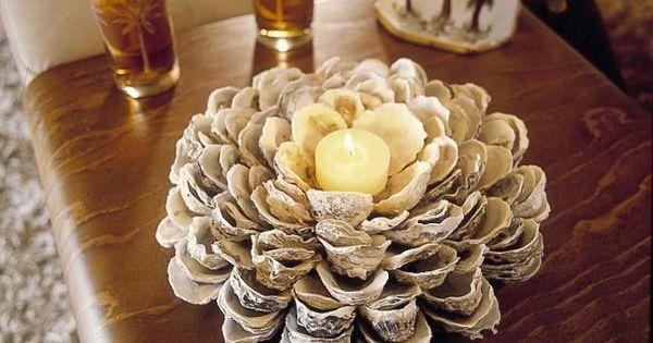 C mo hacer un centro de mesa con conchas de mar imujer - Como hacer conchas finas ...