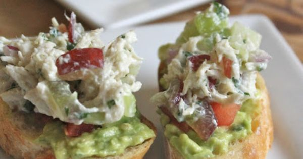 Chicken Salad and Avocado Crostini - A Baby Shower or Bridal Shower ...