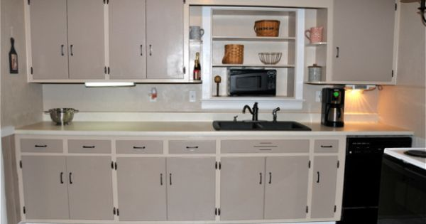 Budget makeover the cabinets are knotty pine and were very dated in this 1960s kitchen we cant - Knotty pine cabinets makeover ...