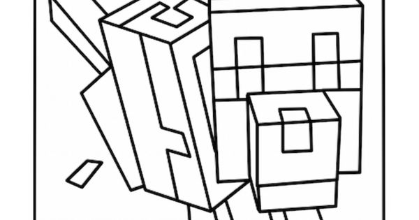 minecraft wolf coloring pages | minecraft coloring | Coloring Pages | Pinterest ...