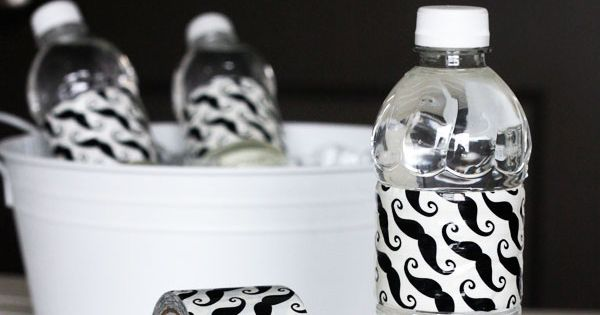 Use pattern Duct Tape as Water Bottle Wraps. Awesome! party idea
