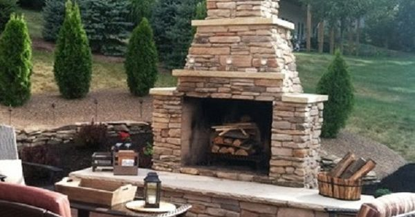 Stacked Stone Outdoor Fireplace Best Of Yard Garden