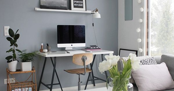 Grey blue wall paint home pinterest for Best white paint for grow room
