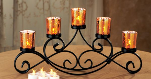 Beautiful iron candle holder perfect for a dining table