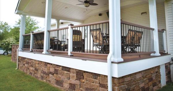 Drystack Cast Veneer Stone In Under The Porch Love This Decorative Walls Pinterest The