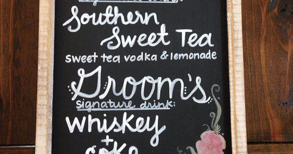 25 Best Ideas About Drink Menu On Pinterest: Custom Chalkboard Bar Menu -bar Sign- Cocktail Menu -drink