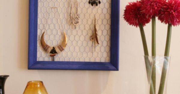 Fabriquer un porte bijoux en grillage poule porte for Meuble porte grillagee poule