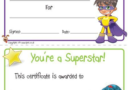 free printable superhero certificates for your super kids