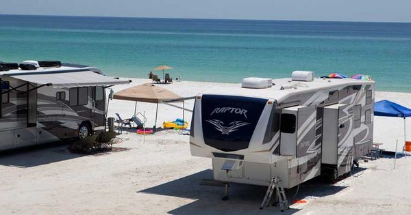 Camp Gulf Campground Beachfront Rv Sites Destin Fl