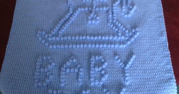 Crochet Baby Blanket Rocking Horse Baby Boy Baby