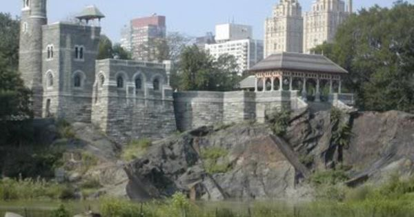 NYC. Central Park. Belvedere Castle sitting high atop ...