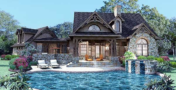 Plan 16807wg Stone Cottage With Flexible Garage Craftsman Style House Plans Cottage Plan Tuscan House Plans
