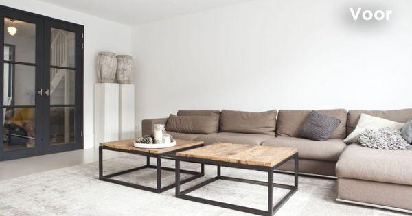 Idee n woonkamer mooie dubbele deuren via vt wonen home interior pinterest dubbele - Afbeelding eigentijdse woonkamer ...