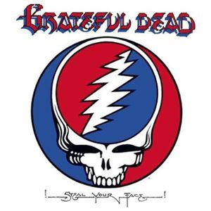 """Grateful Dead /""""GD/"""" With Lightening Bolt Bumper Sticker Decal"""