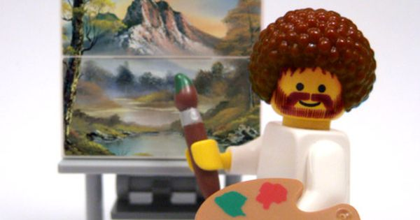 Lego Bob Ross - remember this guy? Happy Trees!