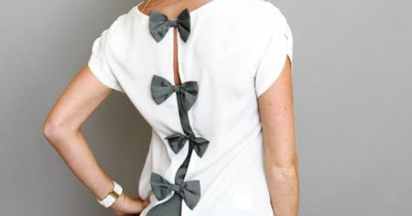 Bow shirt idea, cute idea for the back of the shirt.