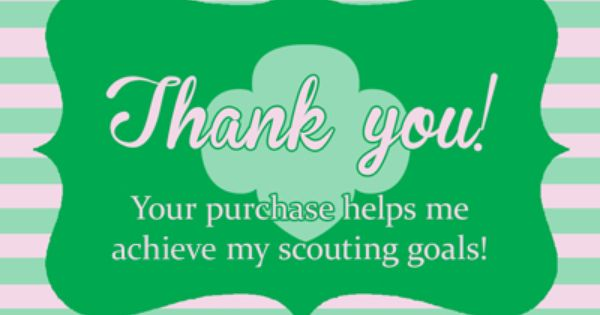 free printable girl scout thank you labels perfect for