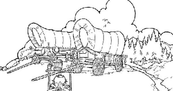 Covered wagon coloring pages for kids ~ pioneer activity pages for kids - Google Search   Lander ...
