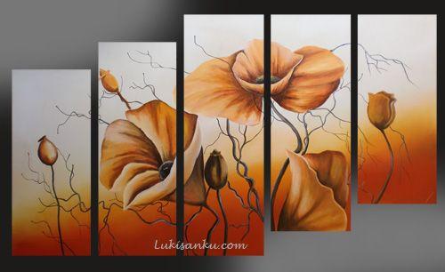 Lukisan Bunga Kg51 Nz Lukisan Abstrak Abstrak Dan Art