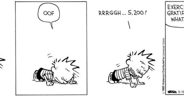 calvin and hobbes exercise comics pinterest humor laughter and funny stuff