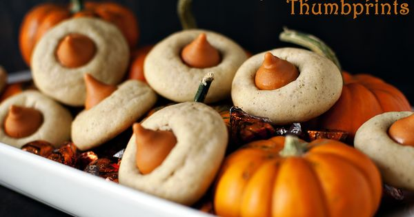 Chai Pumpkin Spice Cookies! I just bought these pumpkin hershey kisses... I