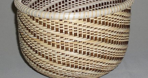 Nantucket Basket Weaving Patterns : Hand woven nantucket style basket twill weave by