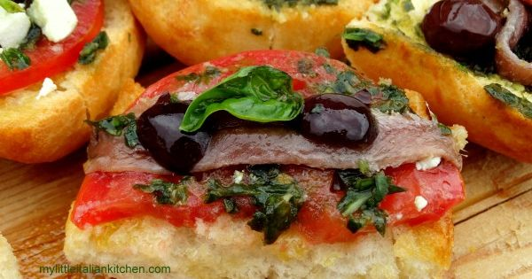 Tomato and Anchovy Bruschetta, cooking with Laura series | Bruschetta ...