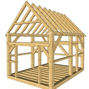 12x16 Post And Beam Cabin Timber Frame Hq Building A Shed Shed Design Diy Shed Plans