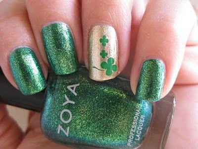 Mad Manis St Patrick S Day Manicure St Patricks Day Nails Saint Patrick Nail Green Nail Art