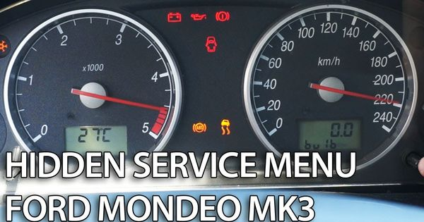 How To Enter Hidden Menu In Ford Mondeo Mk3 Service Mode Gauges Self Test Needle Sweep