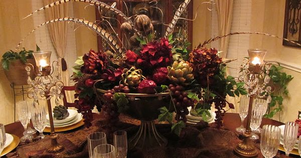 Tuscan centerpieces for dining room tables entry for Beautiful dining table centerpieces