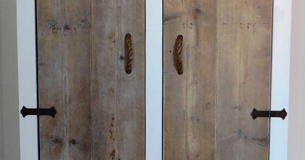 Steigerhouten kast steigerhouten meubels op maat pinterest for Grenen ladeblok