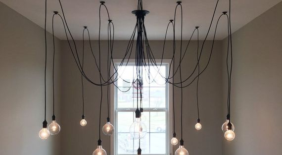 pendant light spider chandelier unique 14 multi pendant chandelier lighting modern chandelier. Black Bedroom Furniture Sets. Home Design Ideas