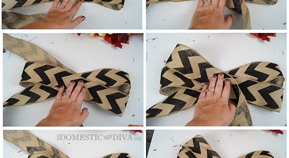How to Make a Chevron Burlap Bow for a Wreath: The Perfect