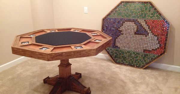 Homemade Poker Table Bottle Cap Topper For The Mancave