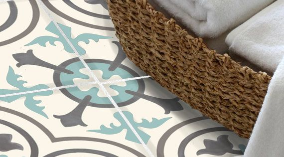 stickers autocollants carrelage pour sol dosseret de cuisine bain amovible imperm able l eau. Black Bedroom Furniture Sets. Home Design Ideas