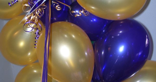 Purple And Gold Balloons For Mardi Gras Party By Celebrate